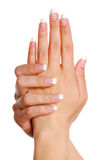 Beautifull Frauenhand. Stockfotos