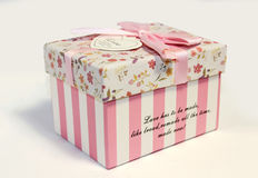 Beautifull gift box for beloved Stock Images
