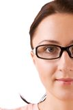 Beautifull girl in glasses. Portrait Royalty Free Stock Images