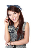 Beautifull girl on phone call Stock Photos