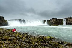 Beautifull Godafoss waterfall in Iceland Royalty Free Stock Photography