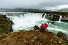 Beautifull Godafoss waterfall in Iceland Stock Image
