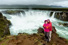 Beautifull Godafoss waterfall in Iceland Stock Images