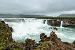 Beautifull Godafoss waterfall in Iceland Stock Photo