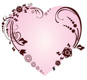 Beautifull heart with floral ornament. Valentine background Stock Photography