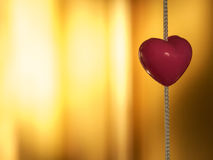 Beautifull heart. On the light background Stock Photography