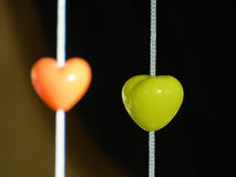 Beautifull hearts. On the dark background Stock Photography