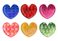 Beautifull hearts icon set Stock Photos