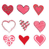 Beautifull hearts icon set Royalty Free Stock Photo