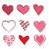 Beautifull hearts icon set Royalty Free Stock Photo