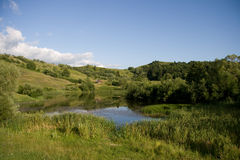Beautifull Hill landscape in Romania Royalty Free Stock Images