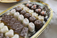Beautifull homemade yummi  truffles Royalty Free Stock Images