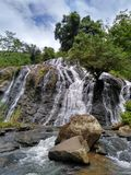Beautifull indonesia. Waterfall sindaro in wadasmalang village, Kebumen district. cool indonesia Stock Images