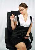 Beautifull junge Geschäftsfrau Lizenzfreie Stockbilder
