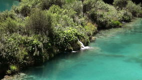 Beautifull landscape in Plitvice national park stock video footage