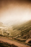 Beautifull landscape. Transfagarasan under dramatic lighting Stock Photo