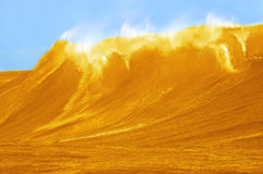 Beautifull Large Beer Wave Stock Image