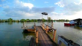 A beautifull life in Samut Songkhram stock image