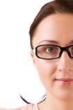 Beautifull Mädchen in den Gläsern Lizenzfreie Stockbilder