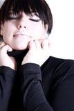 Beautifull Mädchen mit Verfassung Lizenzfreie Stockfotos