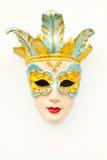Beautifull mask. Female mask on the wall Stock Photo