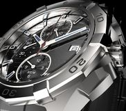 Beautifull metal watch  on a background Stock Image