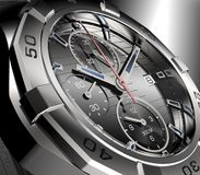Beautifull metal watch  on a background Stock Images