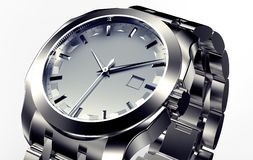 Beautifull metal watch isolated on a background Royalty Free Stock Photos