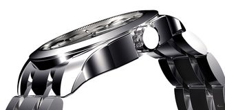 Beautifull metal watch isolated on a background Stock Images