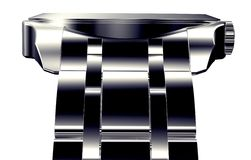 Beautifull metal watch isolated on a background Stock Image