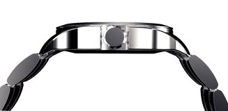 Beautifull metal watch isolated on a background Royalty Free Stock Photography
