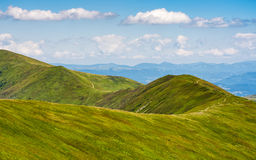 Beautifull minimalistic summer mountain landscape in good weathe Royalty Free Stock Images