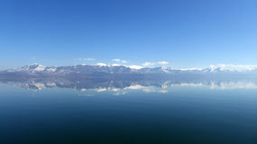 Beautifull panorama , Lake Prespa, Macedonia Stock Image