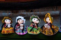 Beautifull Puppen von Peru Stockbild