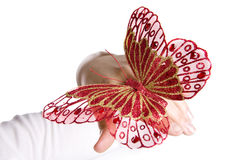 Beautifull Red Butterfly On Woman Hand Stock Photography