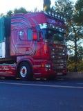 Beautifull Scania V8 Truck Cargo Stock Image