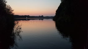 Beautifull. See water Sonnenuntergang Stock Photography