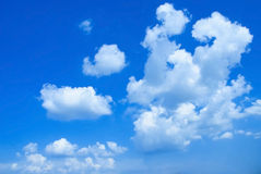 Beautifull soft white clouds against blue sky Royalty Free Stock Images
