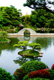 Beautifull stoned gate inside water in Japan Royalty Free Stock Photo