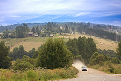 Beautifull summer landscape in the countryside Royalty Free Stock Images