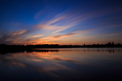 Beautifull sunset, made in the eastern part of The Netherlands Royalty Free Stock Image