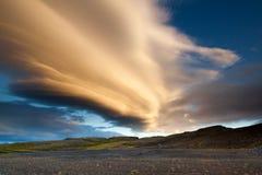 Beautifull Sunset. Somewhere on Iceland Royalty Free Stock Photo
