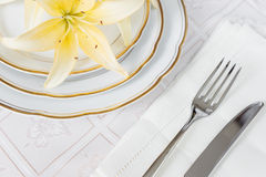 Beautifull table setting Royalty Free Stock Photo