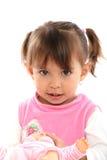 Beautifull toddler blonde whit wrist Stock Photos
