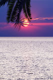 Beautifull tropical sunset at sea Royalty Free Stock Photo