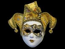 Beautifull venetian mask. Isolated on black