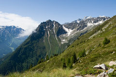 Beautifull view in the Alpes Stock Photography