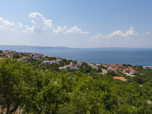 Beautifull view at the Croatian coast Stock Image