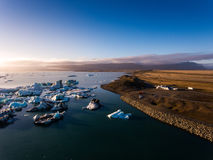 Beautifull view of Jokulsarlon lagoon, Iceland Royalty Free Stock Photo