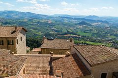 Beautifull view of San Marino. royalty free stock image